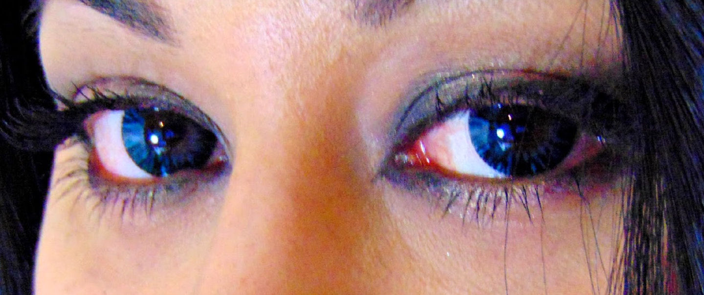 Blue Shimmer Contact Lenses