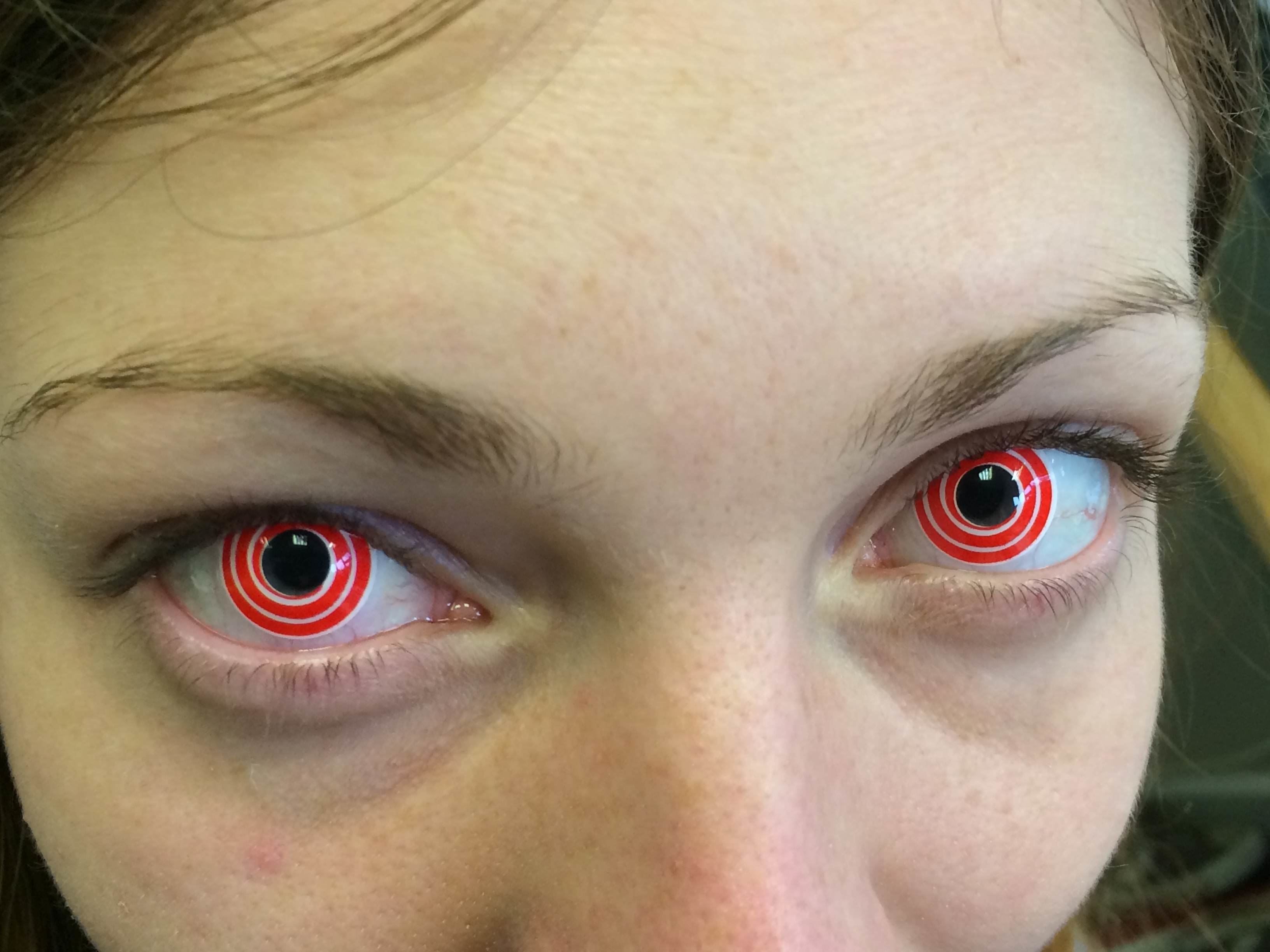 red colored contacts