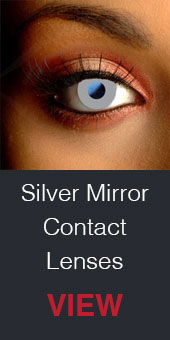 Spooky Glimmer Silver Contact Lenses