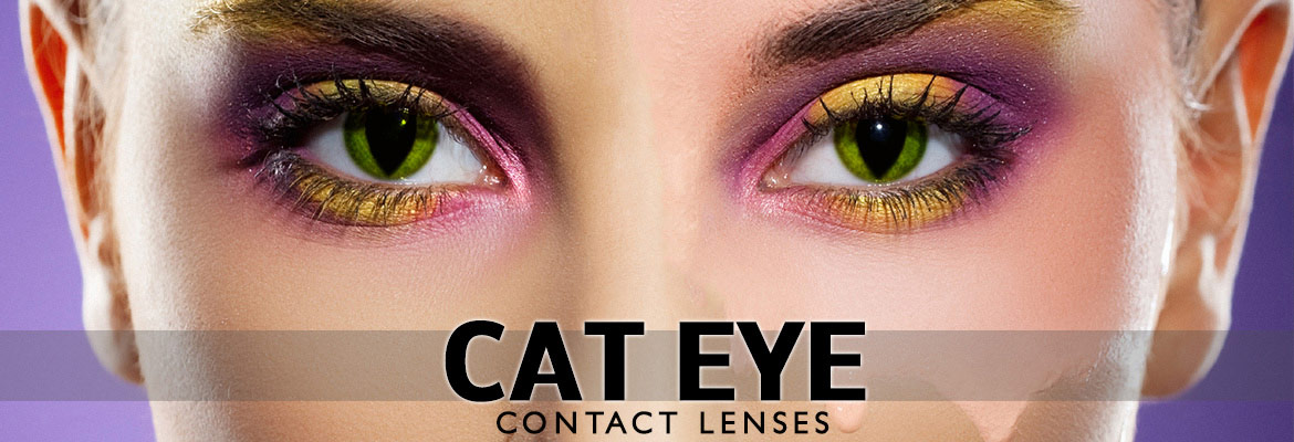 Blue Cats Eyes Contact Lenses