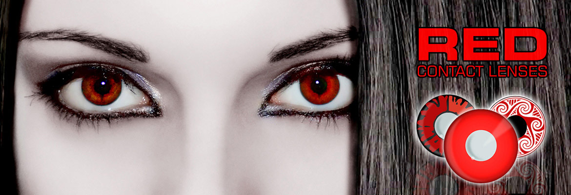red contact lenses