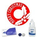 Merry Christmas Holly Contact Lenses Complete Set