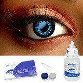 Big Eye Dolly Eye Blue Contacts Complete Set