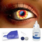 Bloodshot Eye Contact Lens Complete Set