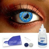 Blue 3 Tone Color Contact Lens Complete Set
