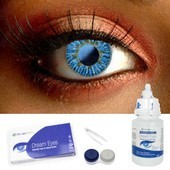Blue Colored Contact Lens Complete Set