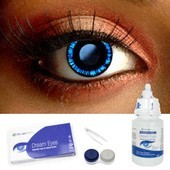 Blue Manga Contact Lens Complete Set