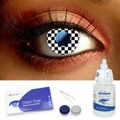 Checkerboard Contact Lenses Complete Set