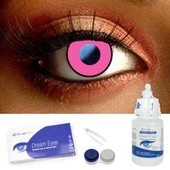 Color Vision Pink Manson Contacts Complete Set