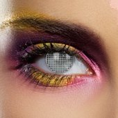 Color Vision Grey Mesh Contact Lenses (Pair)