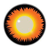 Color Vision Orange Werewolf Contact Lenses
