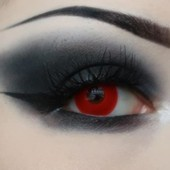 Funky Red Contact Lenses