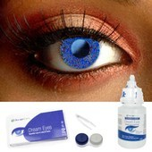 Glimmer Blue Contact Lens Complete Set