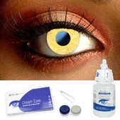 Glimmer Gold Contact Lenses Complete Set