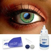 Green 3 Tone Color Contact Lens Complete Set