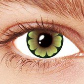Flower Power Green Contact Lenses