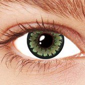 Green Floral Contact Lenses