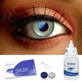 Green Sparkle Contact Lenses Complete Set