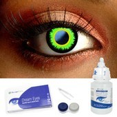 Green Twilight Werewolf Contact Lenses Complete Set