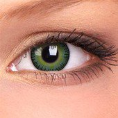 Green Yellow Fusion Contact Lenses (Pair)