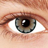 Grey Daisy Contact Lenses