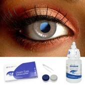 Grey Sparkle Contact Lenses Complete Set