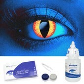 i-Glow Red Dragon UV Contacts Complete Set