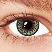 Leopard Green Contact Lenses
