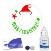 Merry Christmas Santa's Hat Contact Lenses Complete Set