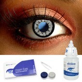 Mystic Grey Contact Lens Complete Set
