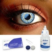 Natural Deep Blue Contacts Complete set