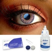 One Tone Violet Contact Lens Complete Set