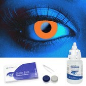 Orange UV Contact Lens Complete Set