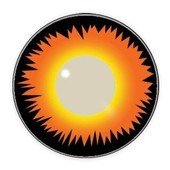 Orange Werewolf Halloween Contacts