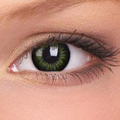 Party Green Big Eyes Contact Lenses (Pair)