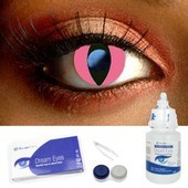 Pink Cat Contact Lenses Complete Set