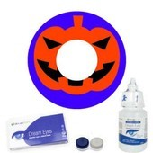 Pumpkin Halloween Contact Lenses Complete Set