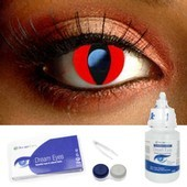 Red Cat Contact Lens Complete Set