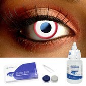Red Ring Contact Lens Complete Set