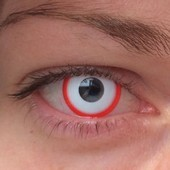 Saw White Halloween Contact Lenses