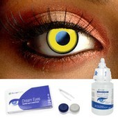 Saw Yellow Contact Lenses Complete Set