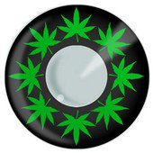 Color Vision Small Cannabis Leaf Contacts