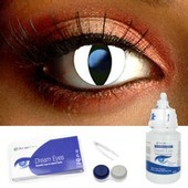 Snow Cat Contact Lens Complete Set