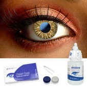 Soft Natural Brown Contact Lenses Complete Set