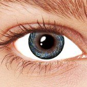 Spiral Blue Contact Lenses