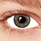 Spiral Green Contact Lenses