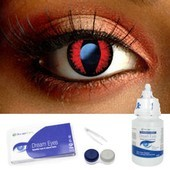 Spooky Fire Dragon Contact Lenses Complete Set