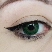 Spooky Green One Tone Contact Lenses
