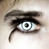 Spooky White Zombie Contact Lenses