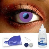 Violet Block Contact Lens Complete Set